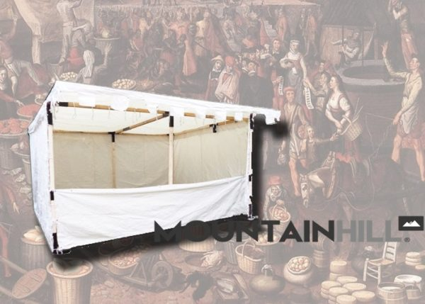 Mittelalter Marktstand in der Größe 4x4 Meter.
