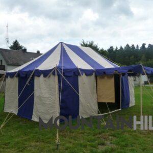 Mittelalterzelt Ritterzelt Herbort in der Größe 4x6 Meter
