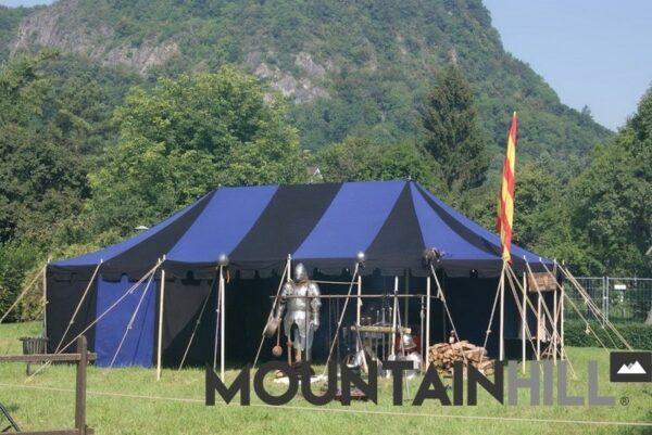 Mittelalterzelt Ritterzelt Marquard in der Größe 5x9 Meter.