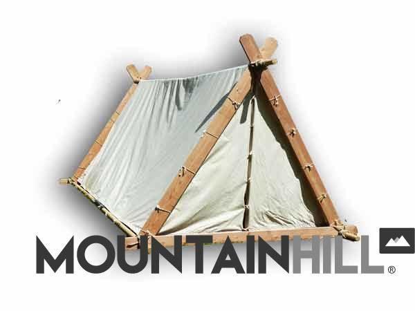 Wikinger Zelt in der Farbe Natur