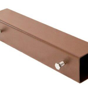 Hülse aus Metall für Konsttuktionsholz in der Größe 54x54 mm.