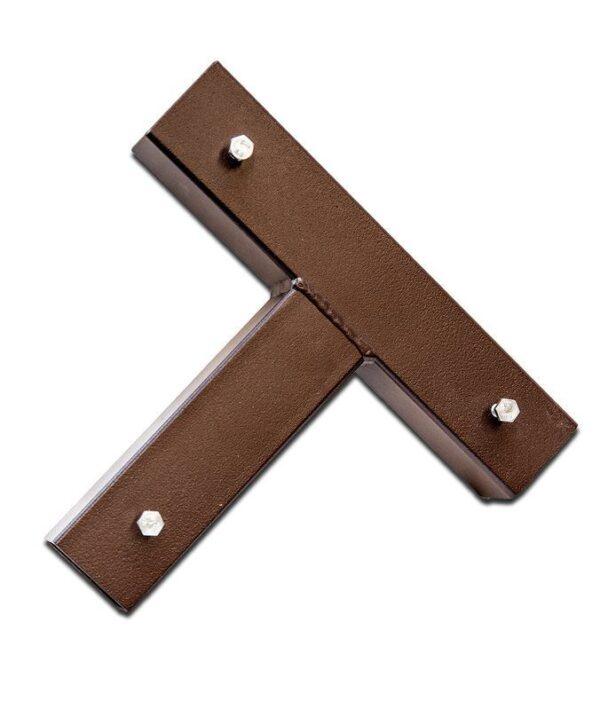 T-Stück aus Metall, ohne Dorn, Größe 5,5-5,4x5,4 cm.