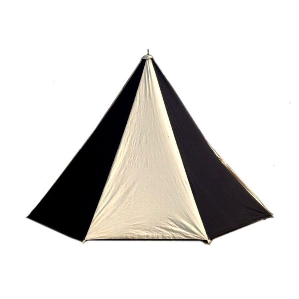 Einfaches Einmastzelt in der Farbe Schwarz-Natur