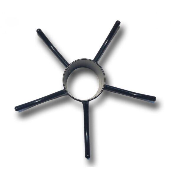 Kleiderhaken für Mittelmast von oben herabblickend in die Mastmanschette für Masten mit dem Durchmesser 5,5 - 5,6 cm.
