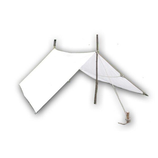 Mittelalter Lagerplane in der Größe 8x8 Meter, Farbe Natur, 350g Stoff pro qm.