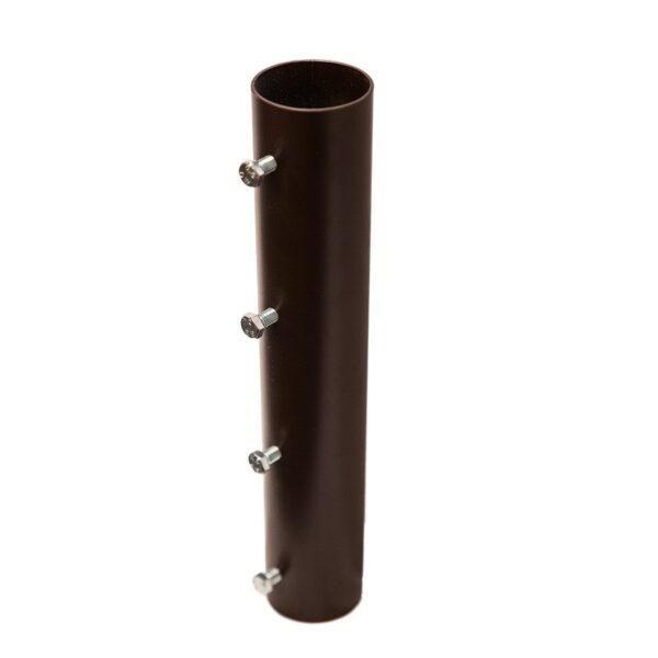 Hülse für Stehstange Mittelalterzelt Durchmesser 5,5 cm aus Metall.