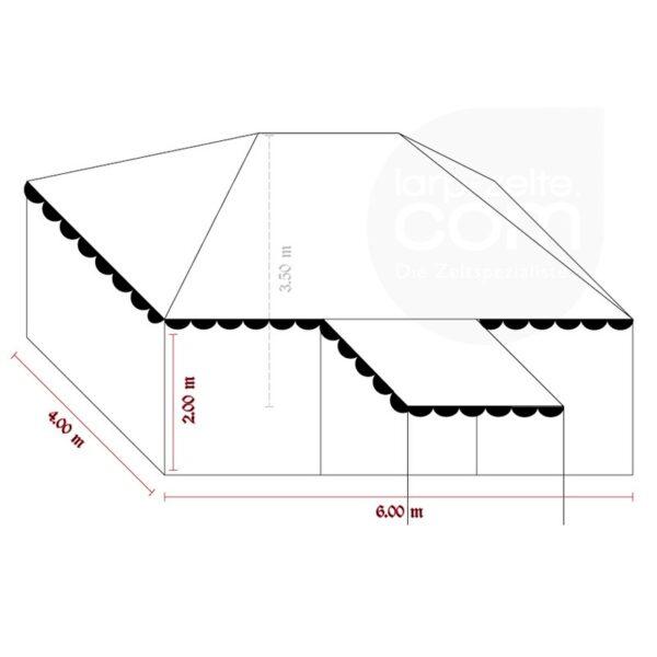 Zeichnungsschema Ritterzelt Herbort 4x6 Meter.