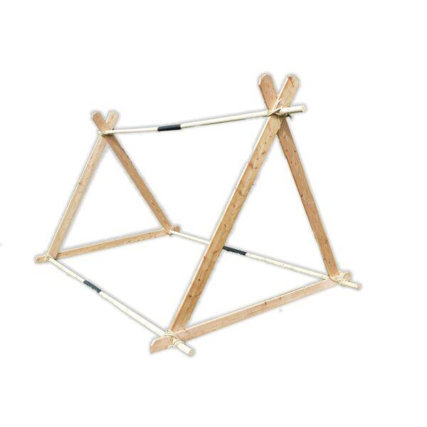 Holz Stangenpaket für das Wikingerzelt. Gewicht 52 kg.