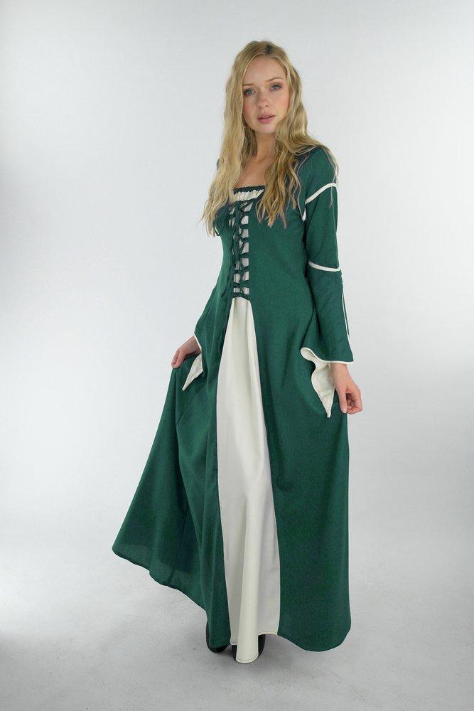 "4836 Kleid mit Trompetenärmeln ""Larissa"" - Mittelalterland ..."